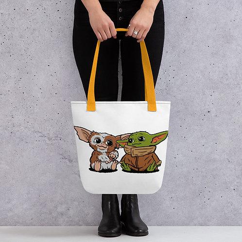 Baby Yoda and Gizmo Tote Bag