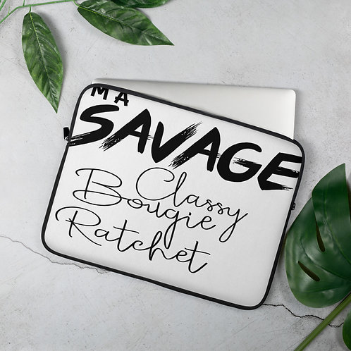 I'm A Savage Laptop Sleeve