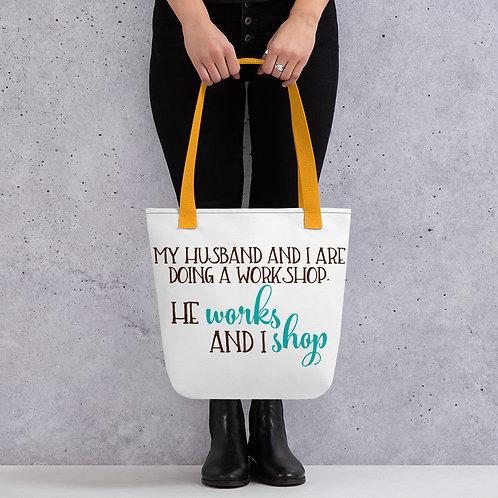Husband Wife Workshop Tote bag
