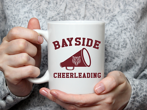 Bayside cheerleading mug