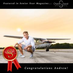 Senior Year Magazine award airplane senior picture