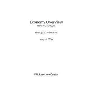 Economy Overview