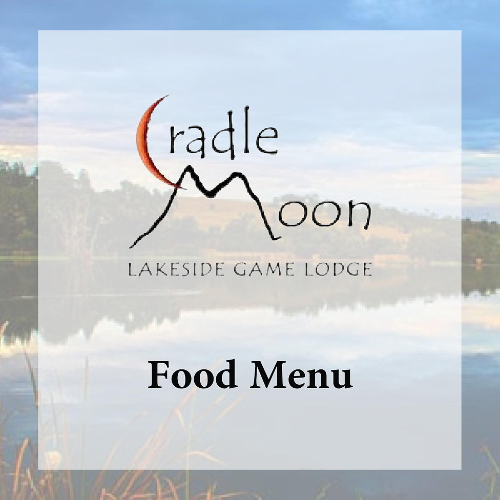 Cradle Moon Food Menu Square Black RQ[44
