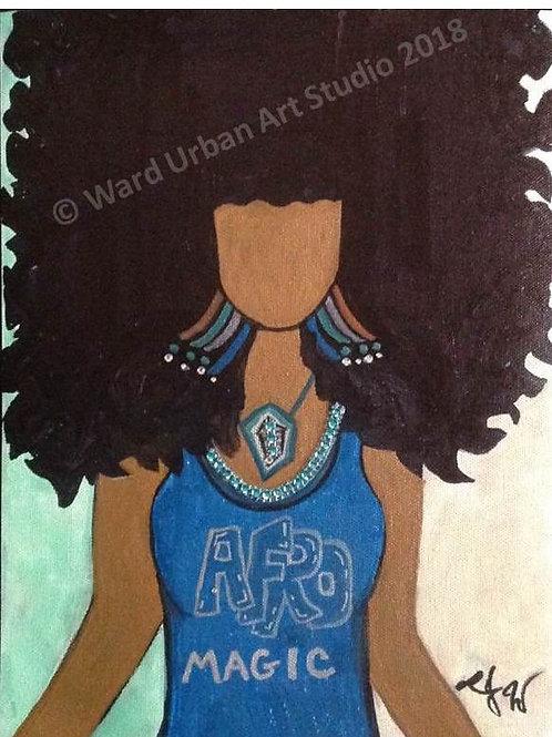 Afro Magic 9x12