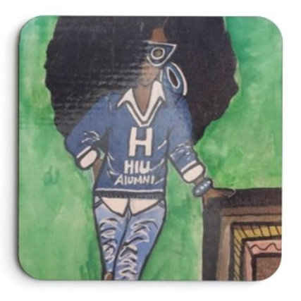 Rockin' da Blue & White - Coaster (set of 2)