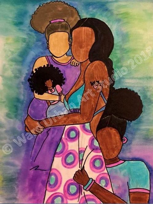 Mommy's Girls 16x20