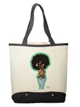 Chillin - Cotton Canvas Sun & Sand Beach Tote