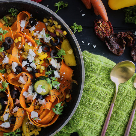 Low Carb Pesto Carrot-uccine