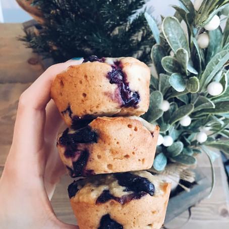 Vegan Blueberry Banana Muffins