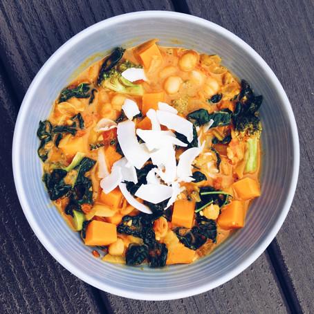 Sweet Potato Chickpea Coconut Curry