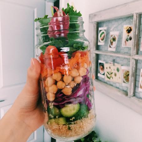 Rainbow Chickpea Quinoa Salad with a Lemon Dijon Vinaigrette