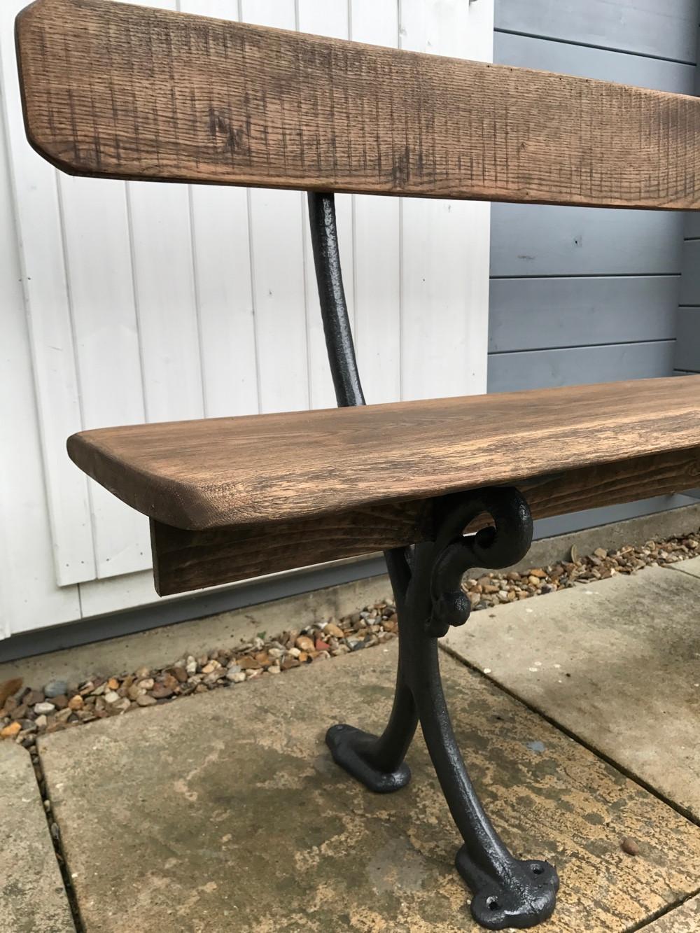 victorian oak bench