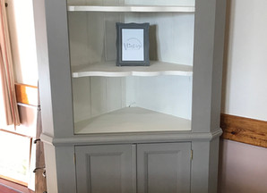 Pine corner unit painted in French Grey
