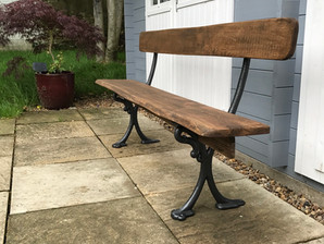Victorian bench reclaimed