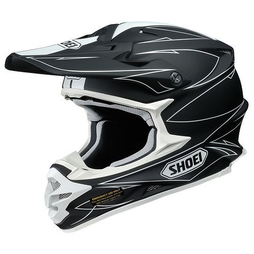Shoei VFX-W MX Helmet Hectic TC5 White