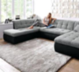gunstige-wohnzimmer-ideen-elegant-l-sofa