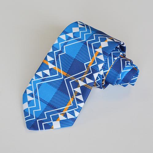Miromoda Taniko Tartan Tie Blue