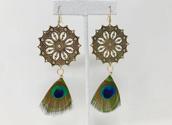 Mandala Feather Gold