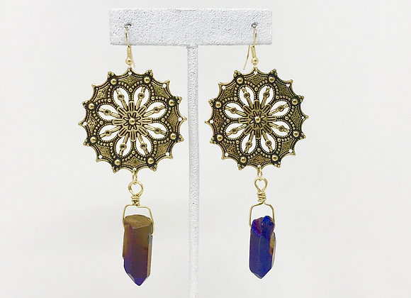 Mandala Crystal Gold