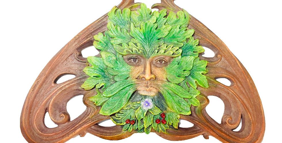 Green Man Summer Berry Wall Plaque: Veronese Collection
