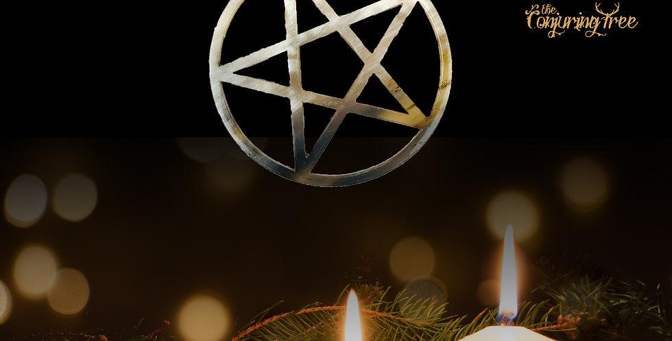 Rustic Horn Tree Ornament - Pentacle