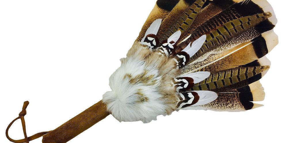 Enlightened Pheasant Tail- Smudge Fan