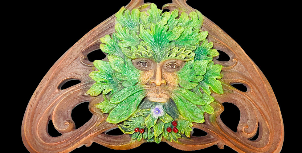Green Man Summer Berry Wall Plaque: Veronese Collection