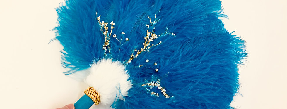 Blue Coral - Feather Smudge Fan