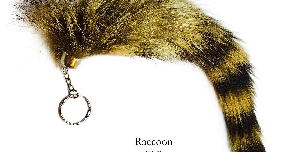 Raccoon Tail keychain