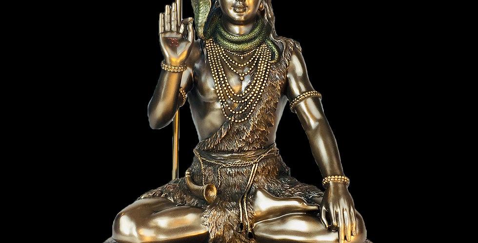 Meditating Shiva Bronze Statue: Veronese Collection