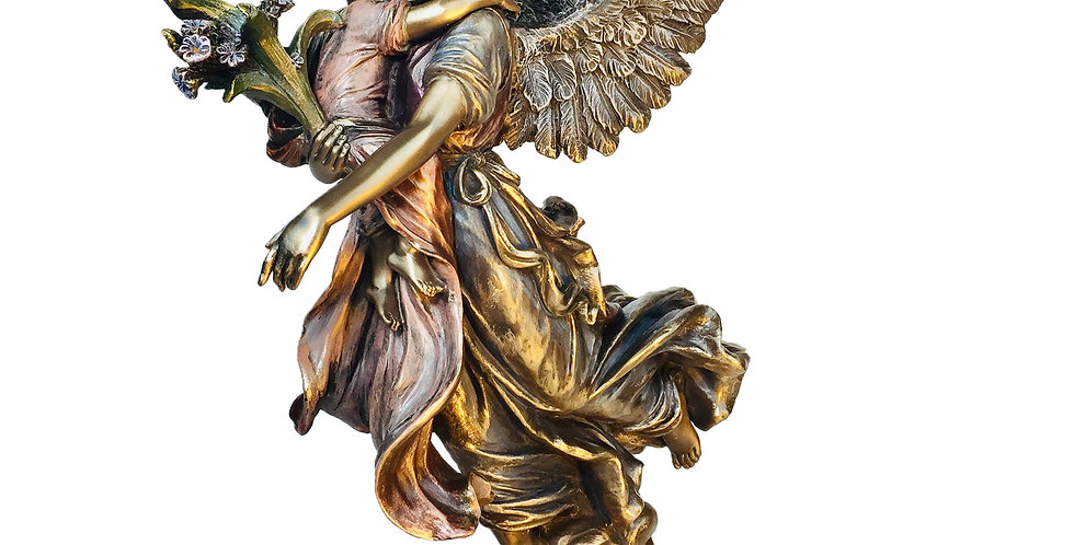 Guardian Angel Holding a Child Bronze Statue: Veronese Collection