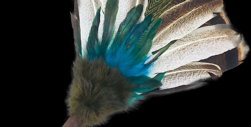 Feather Smudge Fan - Third Eye
