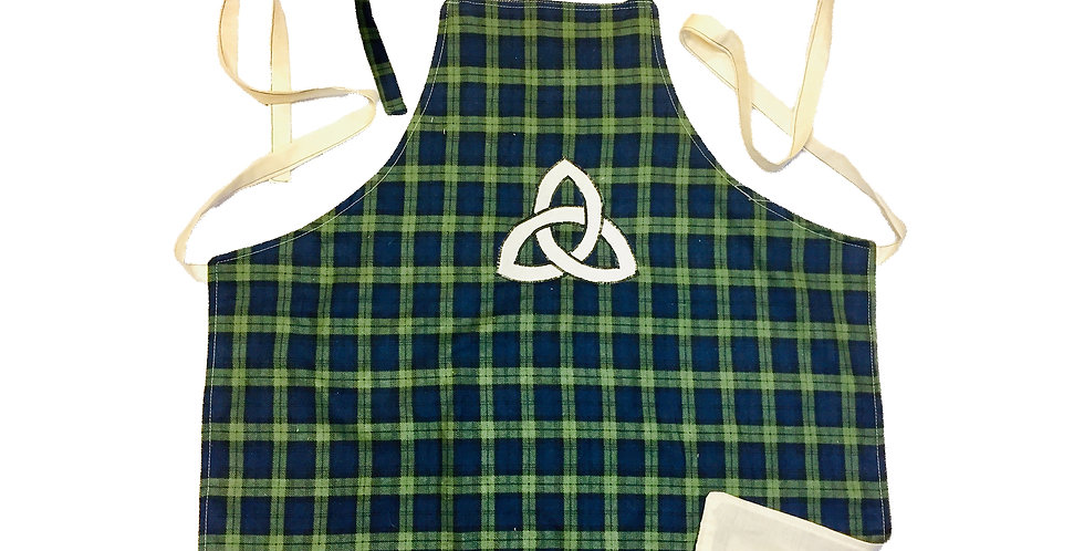 "Home-made ""Triquetra"" Kitchen apron"