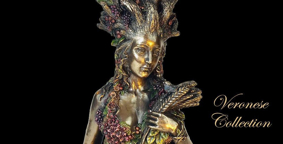 Gaia Greek Primordial Goddess of Earth Bronze Statue: Veronese Colle