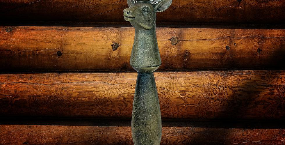 Reindeer taper candlestick (metal)