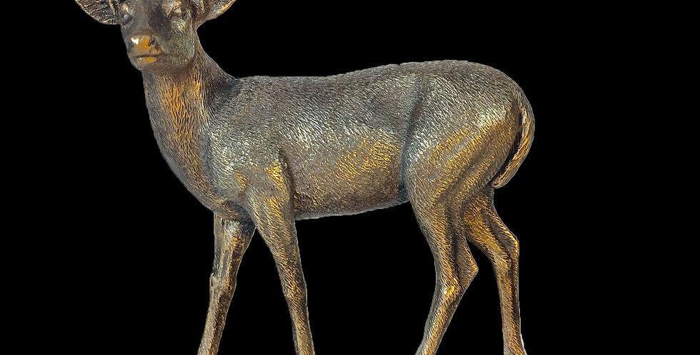 Deer Buck Bronze Statue: Veronese Collection