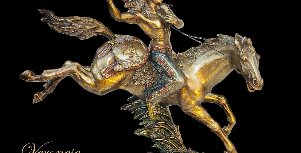 Indian Chief on Horse Bronze Statue: Veronese Collection