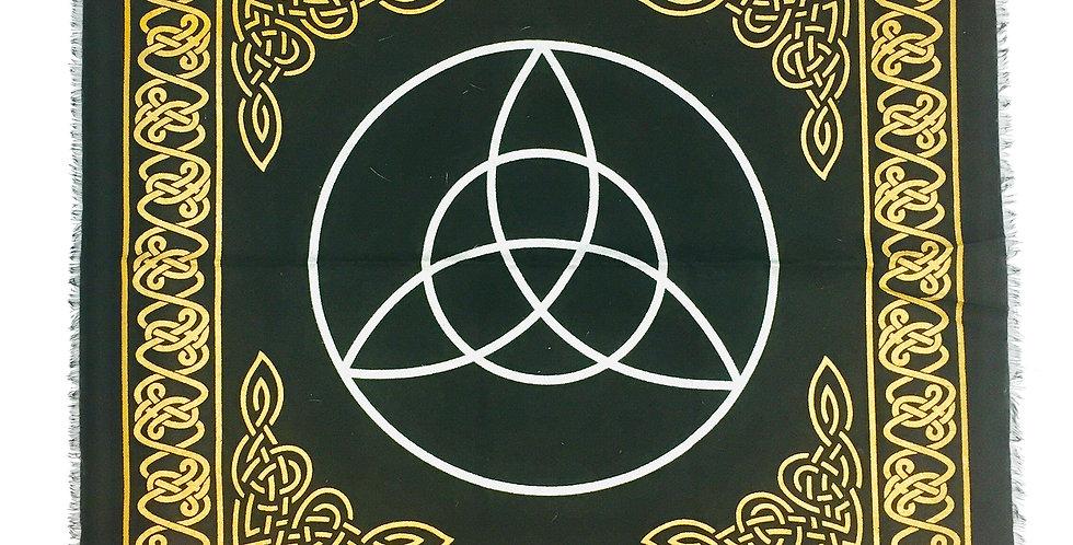 Altar Cloth - Black & Gold Celtic Triquetra