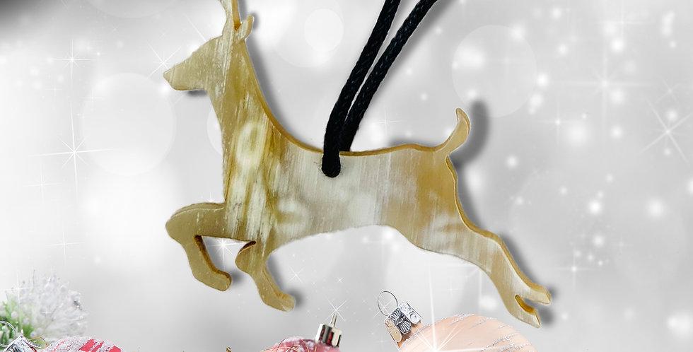 Rustic Horn Tree Ornament - Reindeer