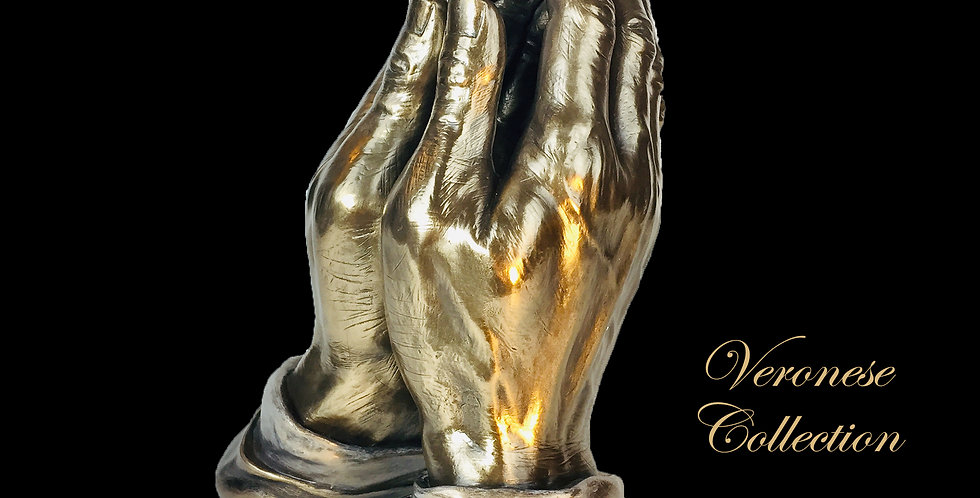 Praying Hands  Bronze Statue: Veronese Collection