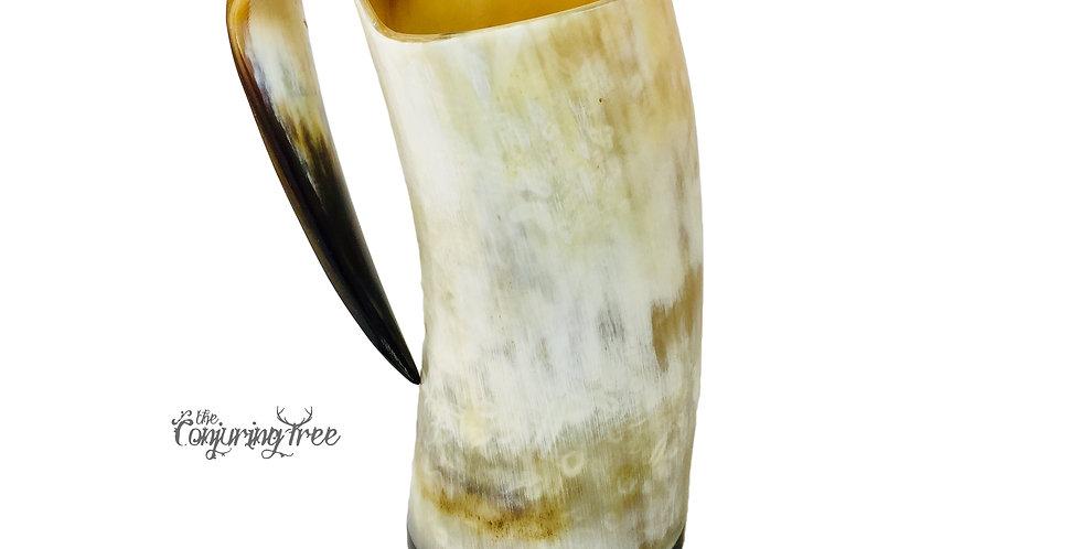 Polished Buffalo Drinking Horn Mug
