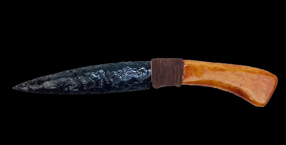 Rustic Alder Handled Obsidian Blade