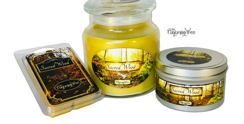 Sacred Wood scented candle or wax melt