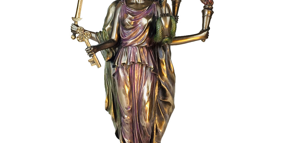 Hecate Greek Goddess of Magic Bronze Statue: Veronese Collection