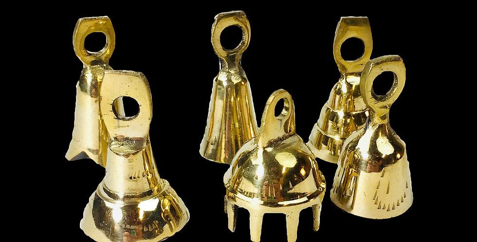 """2"""" Brass Bells set of 6"""