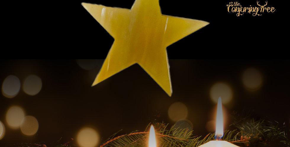 Rustic Horn Tree Ornament - Star