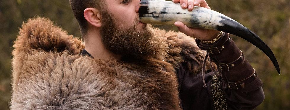 Huge Buffalo Drinking Horn