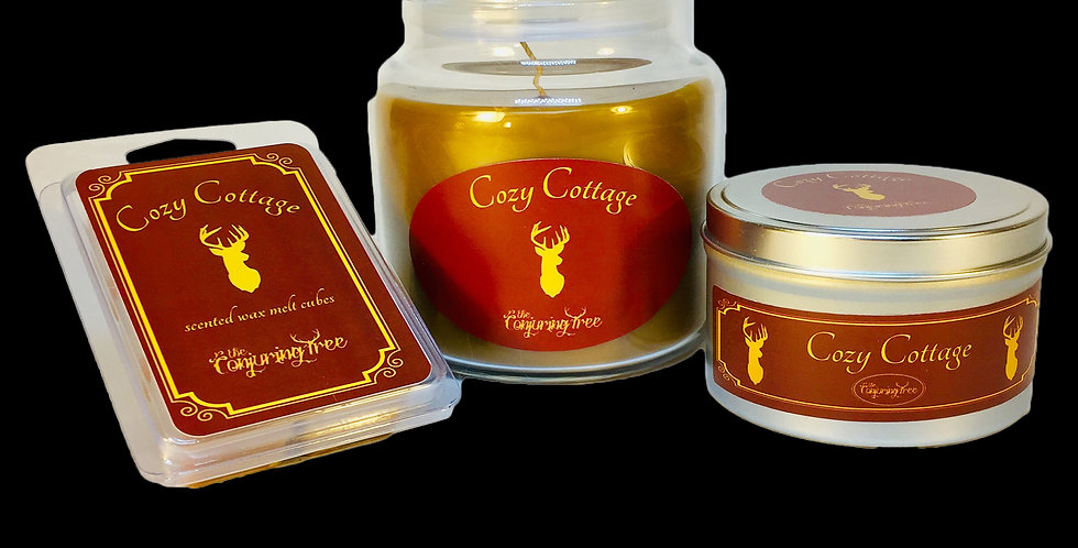 Cozy Cottage scented candle and wax melt