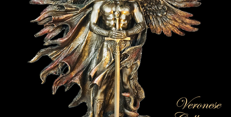 Six Winged Seraphim Bronze Statue: Veronese Collection