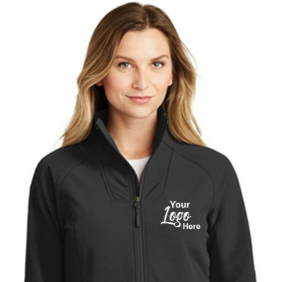 Custom Embroidered North Face Ladies Tech Stretch Full-Zip Fleece Jacket